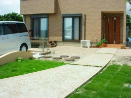 福岡県小郡市 N様邸 ウッドデッキ 施工例 デザイン ガーデン お庭 アウトドアリビング