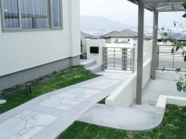 福岡県筑紫野市 W様邸 玄関アプローチ 施工例 デザイン