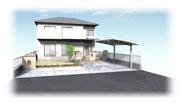 福岡県春日市 エクステリア ガーデニング 太陽ハウジング カーポートパースです