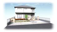 福岡県春日市 エクステリア ガーデニング 太陽ハウジング デッキありパースです