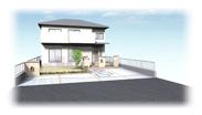 福岡県春日市 エクステリア ガーデニング 太陽ハウジング デッキなしパースです