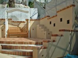 福岡県福岡市中央区レンガを用いたトガーデン外構工事。可愛いお庭へリフォーム。