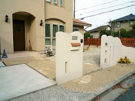 福岡県大野城市 T様邸 玄関アプローチ施工例