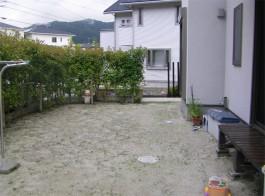 福岡県大野城市 A様邸 玄関アプローチ ガーデン リフォーム 施工前