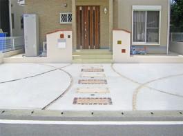 福岡県福津市 M様邸 玄関アプローチ 新築外構工事 デザイン