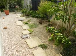福岡県小郡市 I様邸 アプローチ ガーデン ガーデニング デザイン