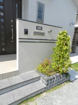 福岡県久留米市 S様邸 新築外構 門柱 デザイン