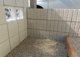 福岡県福岡市早良区 G様邸 アプローチ 門まわり外構工事 ガラスブロック