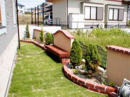 福岡県糸島市 W様邸 花壇 施工例 ガーデン ガーデニング デザイン