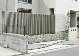 福岡県古賀市 E様邸 フェンス プログコートフェンス 目隠し 施工例 デザイン