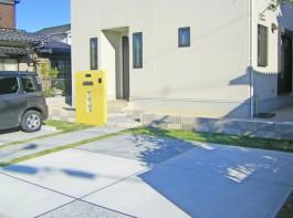 福岡県小郡市 I様邸 玄関アプローチ 新築外構 門まわり 施工例 デザイン