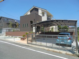 福岡県大牟田市 S様邸 新築外構 エクステリア 門まわり 施工例 デザイン