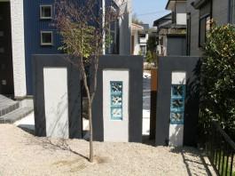 福岡県小郡市 E様邸 新築外構 門まわり エクステリア 施工例 デザイン