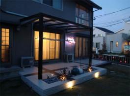 福岡県古賀市 M様邸 サンルーム ガーデンルーム  ガーデン  テラス  ライトアップ 施工例 デザイン