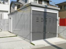 福岡県飯塚市 M様邸 ガレージ・シャッター  車庫 施工例 デザイン