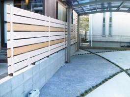 福岡県糸島市 N様邸 フェンス 目隠し 木 Eウッドスタイル 施工例 デザイン シンプル おしゃれ