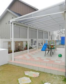 福岡県大野城市 Y様邸 テラス ガーデン ガーデニング タイル 花壇 施工例 デザイン