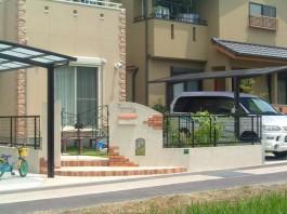 福岡県福岡市城南区 M様邸 門まわり 新築外構 レンガ 可愛い ナチュラル 施工例 デザイン