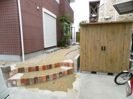 福岡県太宰府市 Y様邸 物置 収納 施工例 デザイン ガーデン ガーデニング