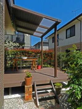 福岡県大野城市T様邸リフォームガーデン工事のデザイン例。