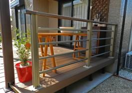 福岡県大野城市T様邸ウッドデッキとテラスを使ったガーデンリフォーム例。