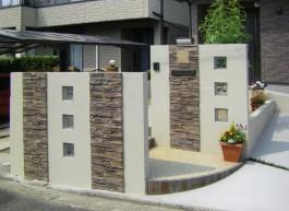 福岡県S様邸新築外構工事のデザイン例。おしゃれでシンプルな外構です。