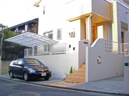 福岡県福岡市早良区T様邸新築外構のデザイン例。可愛くシンプルな外構。