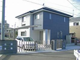 福岡県福岡市南区F様邸新築外構のデザイン例。スタイリッシュでモダンなエクステリア。
