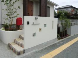 福岡県春日市A様邸新築外構施工例。シンプル・ナチュラル・おしゃれな外構デザイン。