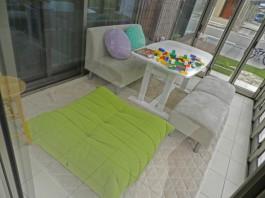福岡県飯塚市H様邸ガーデンルーム+ウッドデッキのあるガーデンデザイン例。