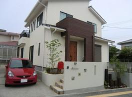 福岡県大野城市A様邸新築外構施工例。シンプル・ナチュラル・おしゃれなデザイン。