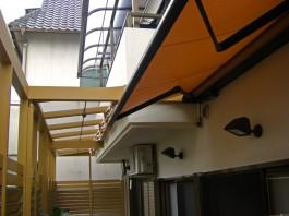 福岡県春日市バルコニーのテラス・屋根の施工例。バルコニーテラスのリフォーム例。