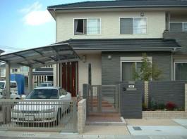 福岡県大牟田市のエクステリア工事デザイン例。和モダンなエクステリアデザインです。