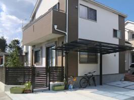 福岡県筑紫野市のお庭リフォーム工事。床、花壇、物置、フェンス。快適なガーデンへ。