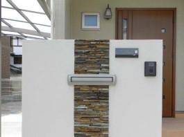 福岡県春日市の門まわりのデザイン例。新築外構エクステリア工事です。シンプルモダン