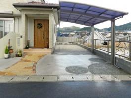 福岡県糟屋郡須惠町の可愛い、おしゃれ、ナチュラル、モダン、シンプルな新築外構工事。