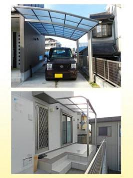 福岡県春日市の車庫にカーポートを、庭にテラス屋根を工事したお客様の感想・声。