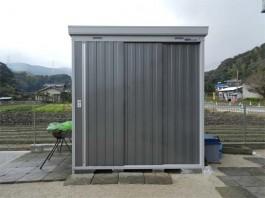 福岡県筑紫野市の物置をガーデン・庭に設置する工事。ガーデニング用品をしまう物置。
