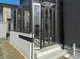 福岡県古賀市の庭・ガーデンにガーデンルームココマを工事した例。おしゃれなガーデンへ。