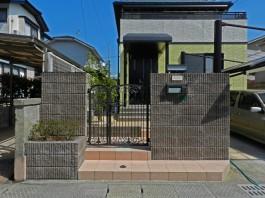 福岡県春日市の門まわりの階段・ポーチ・アプローチ・フェンスなどのリフォーム工事。