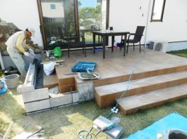 福岡県春日市の庭・ガーデン工事前の工事工程写真。ガーデンルーム、ジーマと庭づくり。