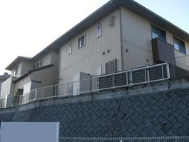 フェンスのリフォーム前の写真です。