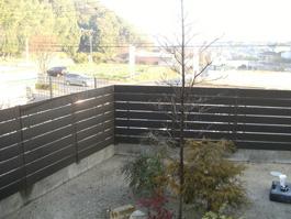 リフォーム前のフェンスの写真です。