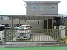 福岡県大野城市にてカーポートとオーバードアを施工。