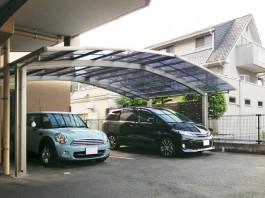 福岡県春日市 マンション駐車場 カーポート新設・取付け工事