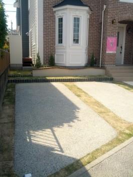 コンクリートと芝