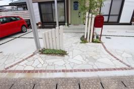 福岡県大野城市 H様邸 アプローチ施工例