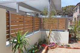 大牟田市A様邸に、セレビューフェンスを施工しました