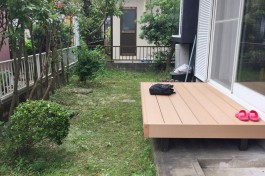 春日市O様邸にて、独創的なお庭を施工しました